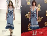 Mary Elizabeth Winstead In Jonathan Simkhai - 2017 MTV Movie & TV Awards
