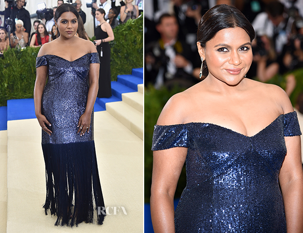 Mindy Kaling In Prabal Gurung 2017 Met Gala Red Carpet Fashion Awards