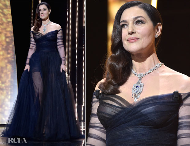 Monica Bellucci In Christian Dior Couture 2017 Cannes Film