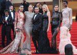 Neelam Gill, Doutzen Kroes, Lara Stone, Irina Shayk & Maria Borges In Balmain - 'The Beguiled' Cannes Film Festival Premiere