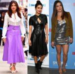 Priyanka Chopra In Roberto Cavalli, Ralph Lauren & Derek Lam - 'Baywatch' Promotion