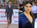 Priyanka Chopra In Vintage Halston -  'Baywatch' World Premiere