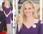 Reese Witherspoon In Roland Mouret -  Goldie Hawn & Kurt Russell's Hollywood Walk of Fame Star Unveiling