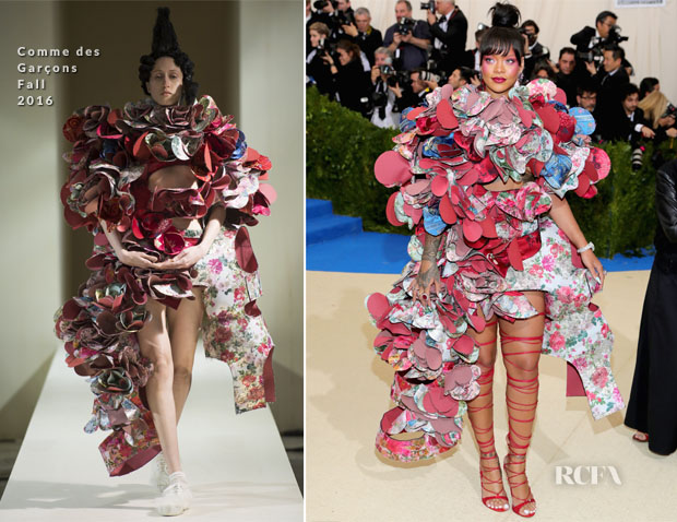 Rihanna In Comme des Garçons - 2017 Met Gala - Red Carpet Fashion Awards eb3a1eb42efb
