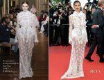 Sara Sampaio In Francesco Scognamiglio Couture - 'The Killing Of A Sacred Deer' Cannes Film Festival Premiere