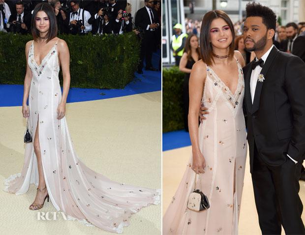 Selena Gomez In Coach 2017 Met Gala Red Carpet Fashion Awards