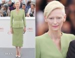Tilda Swinton In Haider Ackermann - 'Okja' Cannes Film Festival Photocall