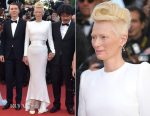 Tilda Swinton In Haider Ackermann - 'Okja' Cannes Film Festival Premiere