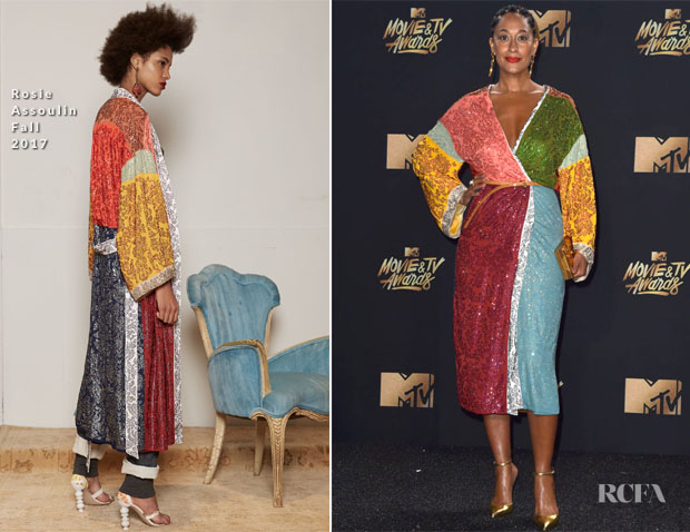 Tracee Ellis Ross In Rosie Assoulin 2017 Mtv Movie Tv Awards