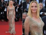 Uma Thurman In Atelier Versace - 2017 Cannes Film Festival Closing Ceremony