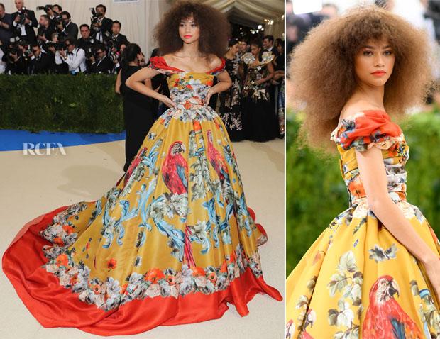 Zendaya Coleman In Dolce Amp Gabbana Alta Moda Couture 2017 Met Gala Red Carpet Fashion Awards
