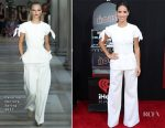 Adria Arjona In Carolina Herrera - 'The House' LA Premiere