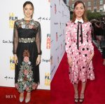 Aubrey Plaza In Red Valentino & Miu Miu - 'The Little Hours' &  'Ingrid Goes West' LA Screenings