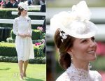 Catherine, Duchess of Cambridge In Alexander McQueen - Royal Ascot 2017