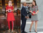 Catherine, Duchess of Cambridge Visits The New V&A In Gucci