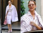Celine Dion was pretty in pink Dice Kayek in Paris
