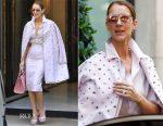 Celine Dion was pretty in pink Dice Kayek in Paris