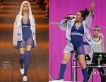 Charli XCX Performs at Glastonbury in DKNY