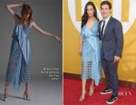 Chloe Bridges In Diane von Furstenberg & Adam DeVine In Tommy Hilfiger - 2017 NBA Awards