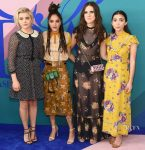 Chloe Grace Moretz, Sasha Lane, Hari Nef, and Rowan Blanchard In Coach 1941 - 2017 CFDA Fashion Awards
