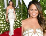 Chrissy Teigen In Pamella Roland - 2017 Tony Awards
