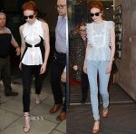 Eleanor Tomlinson In Antonio Berardi & Self-Portrait - AOL Build LDN & BBC Studios