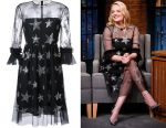 Elisabeth Moss' Huishan Zhang star sequined dress