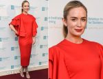 Emily Blunt In Marc Bouwer - 11th Annual American Institute For Stuttering