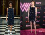 Gillian Jacobs In Huishan Zhang - 'Glow' LA Premiere