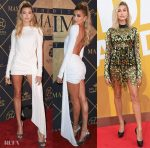 Hailey Baldwin In Alexandre Vauthier Couture & David Koma - 2017 Maxim Hot 100 Party & 2017 NBA Awards