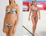 Hailey Baldwin's Vix camo retro camouflage-print bikini