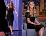 Heidi Klum In Roland Mouret - The Tonight Show Starring Jimmy Fallon