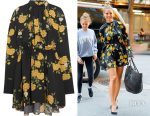 Heidi Klum's Magda Butrym Lugo floral-print silk mini dress