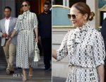 Jennifer Lopez In Gucci - The Louvre Visit