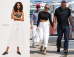 Jennifer Lopez In Naked Wardrobe & Topshop - Out In Nice