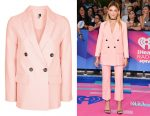 Julia Michaels' Topshop double breasted suit jacket