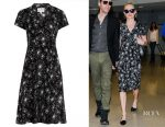 Kate Bosworth's HVN Morgan firework-print short-sleeved dress