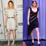 Kate Mara In Burberry & David Koma - Build Presents 'Megan Leavey' & The Tonight Show Starring Jimmy Fallon