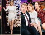 Kate Mara In Zuhair Murad - The Late Late Show with James Corden
