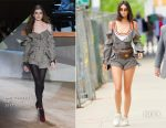 Kendall Jenner In Self-Portrait - Out In New York City