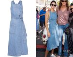 Kendall Jenner's Stella McCartney denim wrap dress