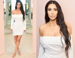 Kim Kardashian In Vivienne Westwood - KKW Beauty Launch
