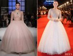 Laura Haddock In Giambattista Valli Couture & Luisa Beccaria -  'Transformers: The Last Knight' China World Premiere & Ten Year Anniversary Celebration