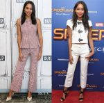Laura Harrier In Brock Collection & Louis Vuitton - Build Presents 'Spider-Man: Homecoming' & First Responders' Screening