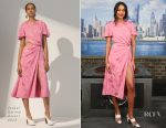 Laura Harrier In Prabal Gurung - Spider-Man: Homecoming New York Photocall