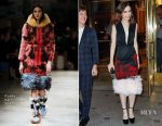 Lily Collins In Prada - Anna Wintour's Dame Commander of the Order of the British Empire Appointment Party