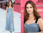 Lily James In Burberry - 'Baby Driver' London Premiere