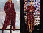 Lily James In Magda Butrym - The Late Late Show with James Corden