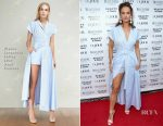 Lily James In Ulyana Sergeenko Demi-Couture - DuJour's Summer Issue Cover Party