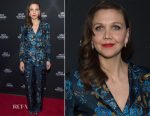 Maggie Gyllenhaal In Alberta Ferretti - 'The Deuce' New York Premiere